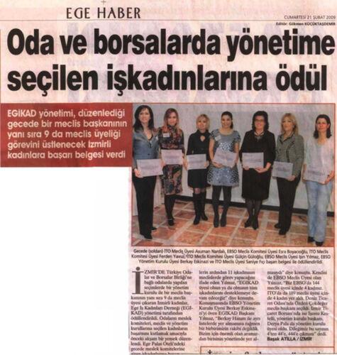 Gülçin Güloğlu Yönetime Seçilen İş Kadınları Ödülü Haberi