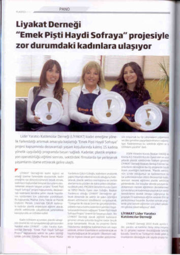 Gülçin Güloğlu Liyakat Ekmek Pişti Haydi Sofraya Projesi