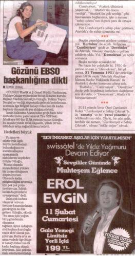 Gülçin Güloğlu Ebso Başkanlığı Haberi