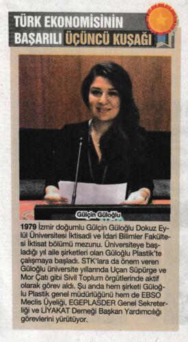 Gülçin Güloğlu Türk Ekonomisinin Başarılı Üçüncü Kuşağı Haberi