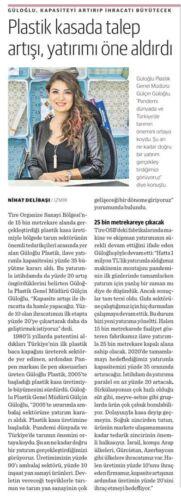 Gülçin Güloğlu Plastik Kasada Talep Artışı ve Yatırım Haberi